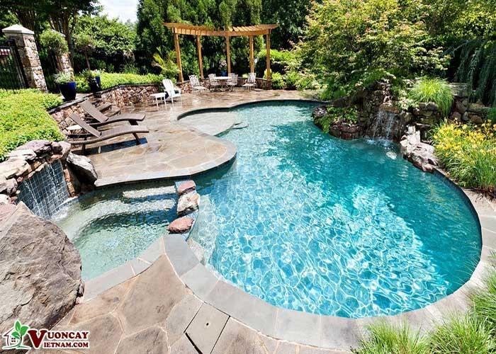 Thiết Kế Sân Vườn Quanh Bể Bơi